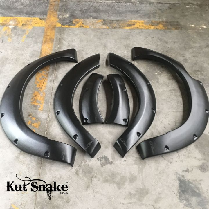 Kut Snake plastic fender flares Nissan Navara D23 NP300 for cars without ADBlue 50 mm (-)