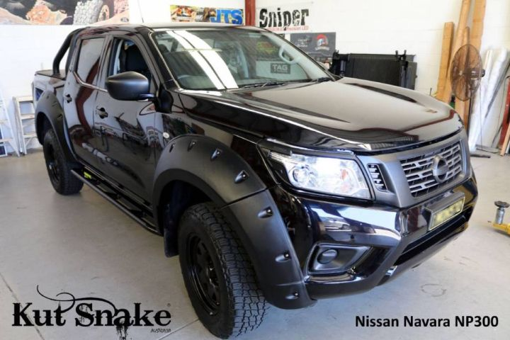 Kut Snake plastic fender flares Nissan Navara D23 NP300 for cars without ADBlue 85 mm (-)